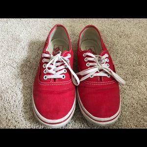 Red low vans